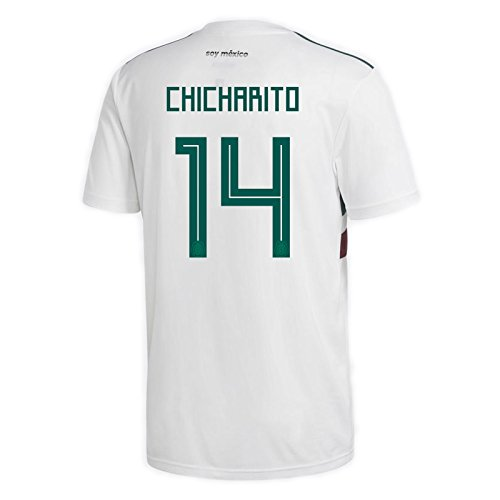 adidas CHICHARITO #14 Mexico Away Men's Soccer Jersey World Cup Russia 2018 (XL)