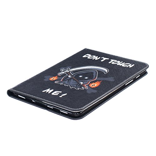 Trumpshop Smartphone Carcasa Funda Protección para Samsung Galaxy Tab S2 8.0 Pulgadas (T710,T715) + dos mariposas + PU Cuero Caja Protector Billetera Choque Absorción Dont Touch Me (Sorcerer)