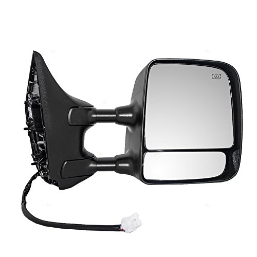 Passengers Tow Power Side Mirror Heated with Telescopic Dual Arms Replacement for Nissan Titan Pickup Truck 96301ZR00E AutoAndArt