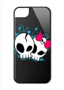 Case Fun Apple iPhone 5 / 5S Case - Vogue Version - 3D Full Wrap - His & Hers Skulls