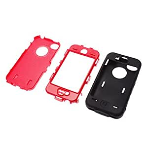 Stylish and Quality PU Full Body Case with Stand and Card Slot and Stylus for iPhone 4/4S (Assorted Colors) , Rose