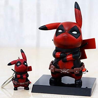 SHDZKJ Pikachu Cosplay Figure Collectible Model Toy Desk Decor Birthday Gift (Figure): Home & Kitchen