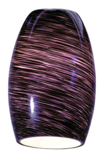 - Chianti - Pendant Glass Shade - Purple Swirl Glass Finish