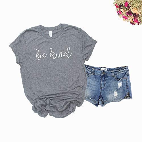 Be Kind Shirt. Kindness T-Shirt. Super Soft and Comfortable Unisex Shirt. Humanity Shirt. (Heather Grey, Medium)