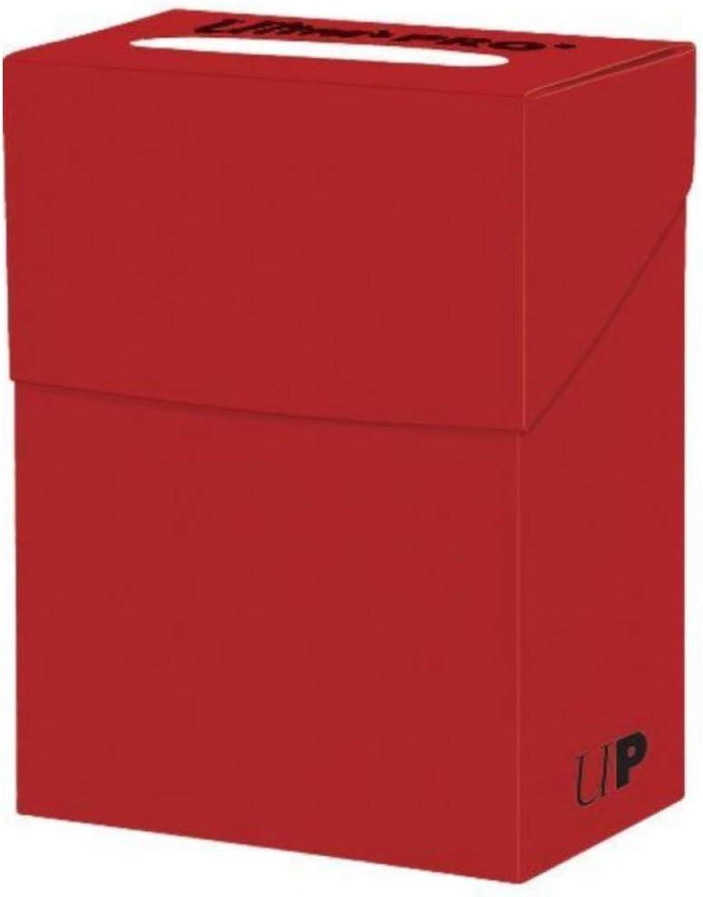 Ultra Pro Solid Red Deck Box, Adultos Unisex, Carta Standard