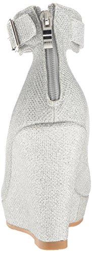 Dream Pairs Women's Ash-22 Wedge Pump Silver Glitter EI1kDo