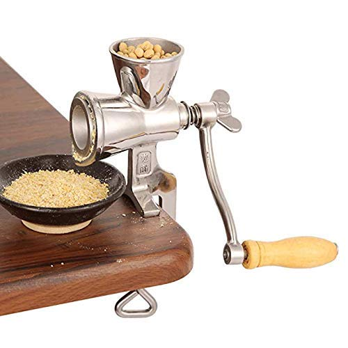 CGOLDENWALL Household Manual Corn Grain Grinder Nuts Mill Wheat Grinder Stainless steel bean Rice grinder Flour grinding machines with Hand Crank Home use  ()