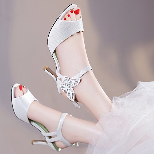 HUAIHAIZ HUAIHAIZ HUAIHAIZ Damen High Heels Pumps Sandalen Schuhe high-heeled Schuhes Schuhe am Abend A Weiß 9f64ae