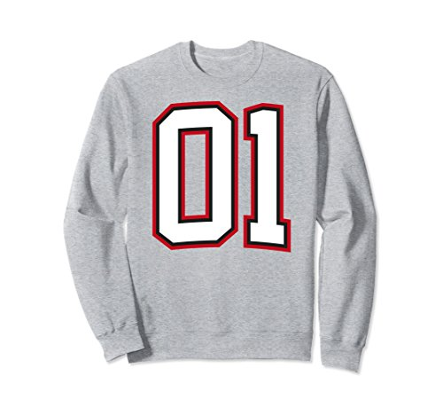 Unisex Number One 1 Sweatshirt Large Heather Grey