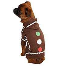 Casual Canine ZM13051025 Gingerbread Pajama, Brown, X-Small