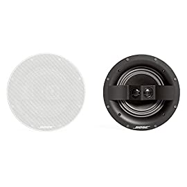 "Bose 742897-0200 Virtually Invisible 791 In-Ceiling Speaker II (White) 6 The best Bose in-ceiling speaker has one 7"" woofer and two strategically positioned 1"" tweeters High-quality, full-range performance that most other installed speakers can't match Exclusive Stereo Everywhere speaker performance covers the room with balanced stereo sound-no drop-offs"