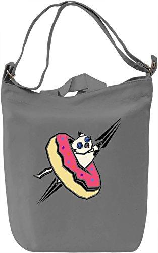 Donut Kitty Borsa Giornaliera Canvas Canvas Day Bag| 100% Premium Cotton Canvas| DTG Printing|