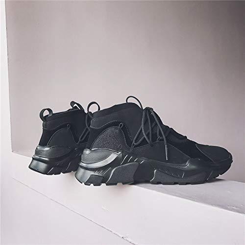 E Correr Baja Ayudar Tamaño Las Deporte Moda Otoño Lovdram Hombre De Para Salvajes Zapatos A Gran Invierno Black Zapatillas vqZaCI