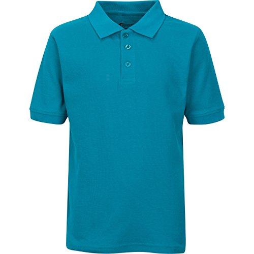 Premium Boys Uniform Polo Shirt Teal L 14/16 by Premium (Image #1)