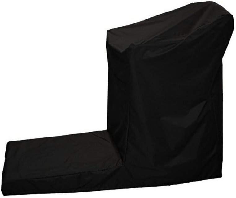 Nero BASA Copertura per mobili da Giardino Copertura a/Forma di/L per/Tapis roulant ad Angolo retto Antivento Antipolvere Protezione Impermeabile mobili da Giardino