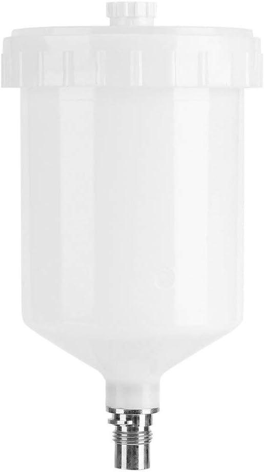 SODIAL 600Ml Plástico Hvlp Taza de Pintura Maceta para Sata Rociador Vaso Conector Chorro Rociador de Pintura