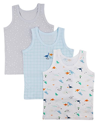 Unifriend Boys Super Soft 100% Cotton Value Tank Tops Undershirts US 8~9Y/Asia 80 (KBTTK01) (80 S Outfit)