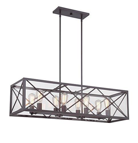 [Designers Fountain 87338-SB High Line 8 Light Linear Chandelier] (8 Light Linear Chandelier)