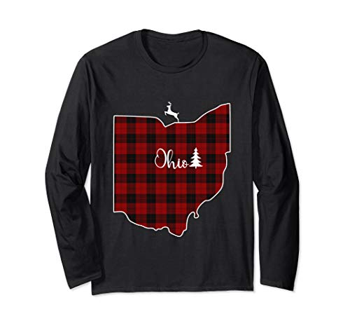 Ohio State Plaid Deer Xmas Long Sleeve Shirt Men Women Gift ()