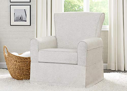 41Mwqfk1RhL - Delta Children Upholstered Glider Swivel Rocker Chair, Sand