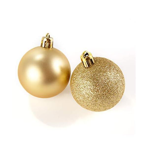 HEITMANN DECO Krebs & Sohn Set di 30 Palline di Natale in Vetro - Albero di Natale Deco Appeso - Palle di Natale - Rosso Oro 7 spesavip