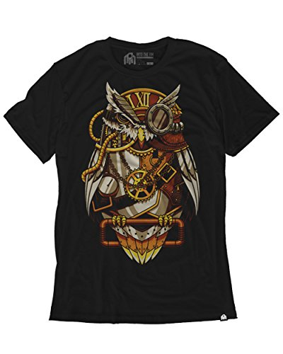 - INTO THE AM Clockwork Owl Men's Graphic Tee Shirt (Large)