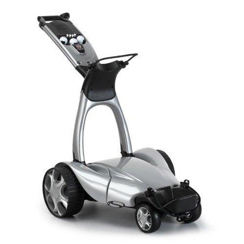 Stewart Plastics–X9Mando a Distancia Push carro de golf eléctrico, color plateado