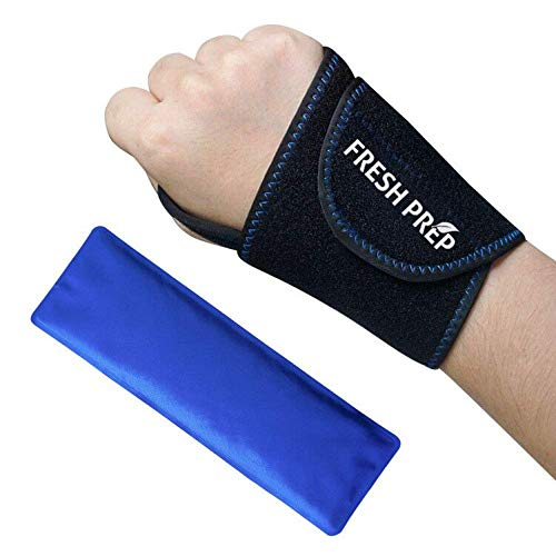 - Wrist Gel Ice Pack Neoprene Wrap for Hot Cold Reusable Therapy, Great for Carpal Tunnel, Sprains, Joint Pain, Swelling, Tendinitis, Arthritis, Sports Injuries - Left/Right Hand