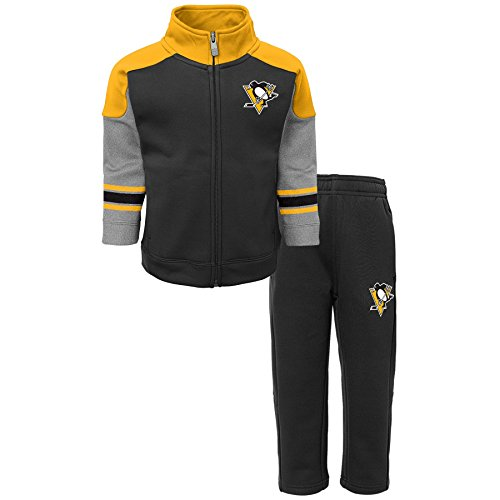 Outerstuff NHL Pittsburgh Penguins Children Boys Shutdown Jacket & Pantss Set, Small(4), Black