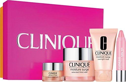Clinique Crema Contorno de Ojos + Crema Hidratante Día + Mascarilla Hidratante de Noche + Pintalabios - 1 Pack: Amazon.es: Belleza