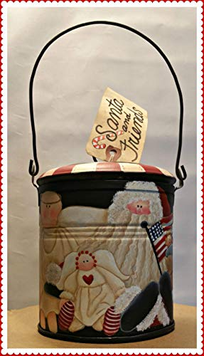 (SANTA AND FRIENDS LUNCH PAIL WITH LID)