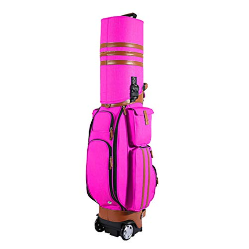 Cart C-tug Boat - QETU Travel Golf Bag with Wheel, Portable with Tugboat Code Lock Hard Shell Consignment Air Package for Unisex,C
