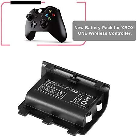 likkas Portable 2PCS 2400mAh Batteries Rechargeable Backup Battery Pack with USB Cable For Xbox One Controller Charging Kit: Amazon.es: Electrónica