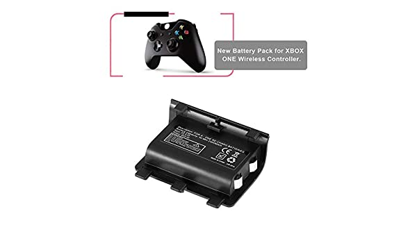 likkas Portable 2PCS 2400mAh Batteries Rechargeable Backup Battery Pack with USB Cable For Xbox One Controller ...