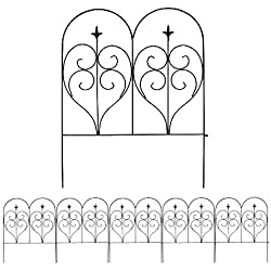 MTB Decorative Garden Border Fence Panel 32 in x 24 in, Pack of 5, Totally 10 ft, Decorative Wire Fencing Garden Border Edging Garden Fence Animal Barrier...