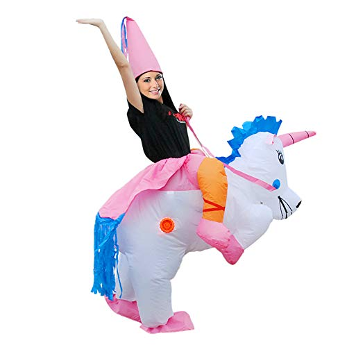 Inflatable Unicorn Horse Costume Cosplay Costumes Fancy Riding Dress Half Body Suit Blow Up Costume (Adult) for $<!--$23.99-->