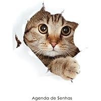 Agenda de Senhas: Agenda para endereços eletrônicos e senhas: Capa gato peekaboo - Português (Brasil)