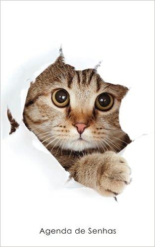 Agenda de Senhas: Agenda para endereços eletrônicos e senhas: Capa gato peekaboo - Português Brasil Agendas com gatos: Amazon.es: Agendas e Cadernos: Libros ...