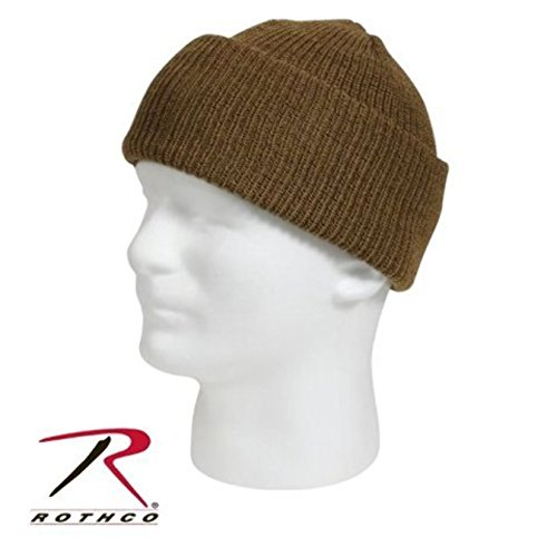 COYOTE BROWN TAN Genuine G.I. GI US Military Army Navy Marines USMC Soldier Wool Watch Skull Winter Cap Hat Beanie MADE IN USA