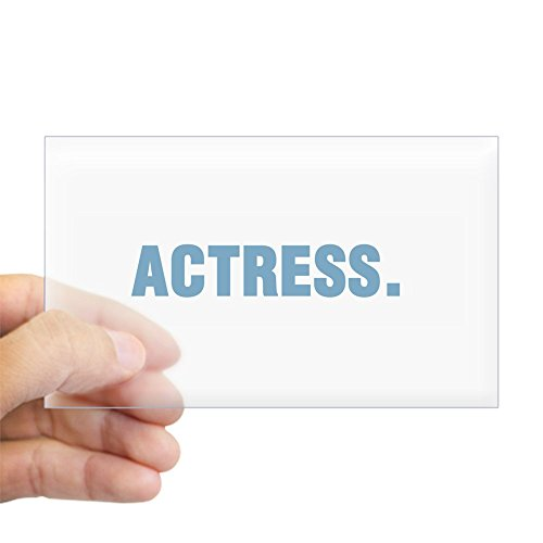 CafePress Actress Rectangle Sticker Rectangle Bumper Sticker Car Decal