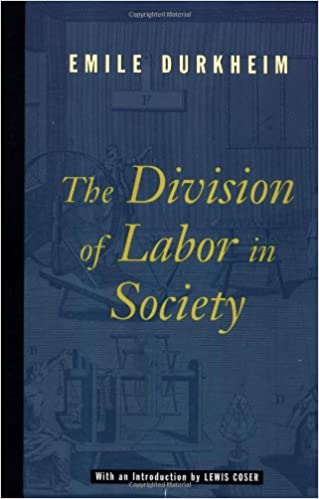 amazon the division of labor in society emile durkheim lewis a