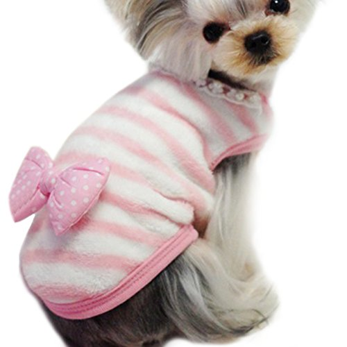 Alfie Pet by Petoga Couture - Emory Stripe Sweater for Small Animals like Guinea Pig, Rabbit, Hamster, Bandit, Ferret - Color: Pink, Size: Medium