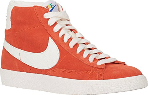 Nike Men's Blazer MID Premium Vintage QS Shoes (8.5, Team Orange/Sail) ()