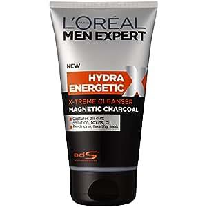 L'OREAL PARIS L'Oréal Men Expert Hydra Energetic Magnetic Charcoal Cleanser, 150 Gram