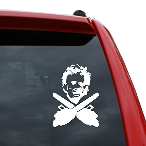 Black Heart Decals & More Texas Chainsaw Massacre/Leatherface Vinyl Decal Sticker | Color: White | 5
