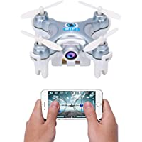 Dwi Dowellin Wifi FPV Drones With Camera Live Video Mini RC Quadcopter Pocket Drone for Apple iPhone iPad Sumsung HTC CX-10WS