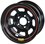 Bassett Wheels 58DC4I Black IMCA D-Hole Wheel