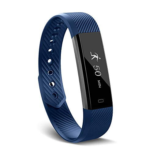 Arbily Fitness Tracker,ID115 Activity Tracker Waterproof with Sleep Monitor, Bluetooth Smart Wristband Bracelet Sport Pedometer Fitness Watch Step Tracker/Calorie Counter for Android and iOS - Sleep Activity Tracker