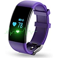 Longess Fitness Tracker, App-Enabled Bluetooth 4.0 Water Resistance Smart Watch, Sleep and Heart Rate Monitor...