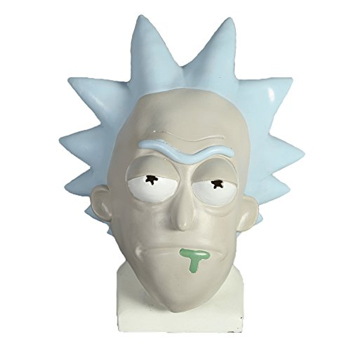 Mad Scientist Mask (Kigcos Mad Scientist Rick Mask Party Props Latex Masks For Halloween)
